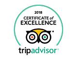 Symbol of זוכה תעודת הצטיינות מטעם אתר TripAdvisor